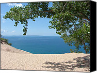 Lake Michigan Canvas Prints - Top of the Dune at Sleeping Bear Canvas Print by Michelle Calkins