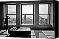 Big Apple Photo Canvas Prints - Top of the Rock Canvas Print by Thomas Splietker