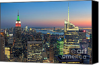 Manhattan Canvas Prints - Top of the Rock Twilight I Canvas Print by Clarence Holmes