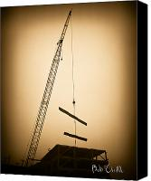 Construction Canvas Prints - Top of the skyscraper Canvas Print by Bob Orsillo