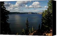 Lake Canvas Prints - Top wow spot - Crater Lake in Crater Lake National Park Oregon Canvas Print by Christine Till