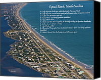 Topsail Island Canvas Prints - Topsail Beach Canvas Print by East Coast Barrier Islands Betsy A Cutler