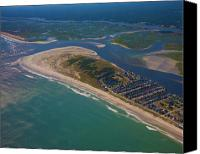 Topsail Island Canvas Prints - Topsail Island Aerial Canvas Print by East Coast Barrier Islands Betsy A Cutler