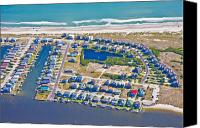 Topsail Island Canvas Prints - Topsail Island South End II Canvas Print by East Coast Barrier Islands Betsy A Cutler