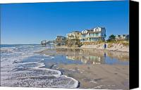 Topsail Island Canvas Prints - Topsail North End Canvas Print by East Coast Barrier Islands Betsy A Cutler