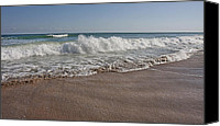 Braking Canvas Prints - Topsail Paradise Canvas Print by East Coast Barrier Islands Betsy A Cutler