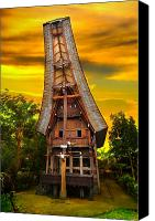 Featured Photo Canvas Prints - Toraja Architecture Canvas Print by Charuhas Images