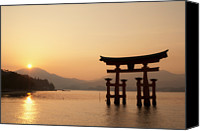 Mountain Scene Canvas Prints - Torii Canvas Print by Jaylie Wong