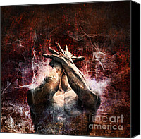 Anger Digital Art Canvas Prints - Torment Canvas Print by Andrew Paranavitana