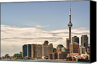 Lake Canvas Prints - Toronto Skyline 10 Canvas Print by Frank Iusi