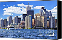 Swan Canvas Prints - Toronto waterfront Canvas Print by Elena Elisseeva