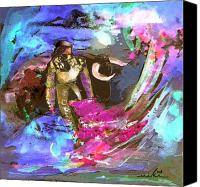 Torero Mixed Media Canvas Prints - Toroscape 07 Canvas Print by Miki De Goodaboom