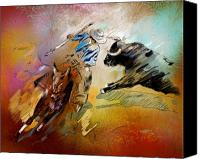 Torero Mixed Media Canvas Prints - Toroscape 42 Canvas Print by Miki De Goodaboom