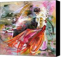 Torero Mixed Media Canvas Prints - Toroscape 45 Canvas Print by Miki De Goodaboom