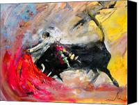 Torero Mixed Media Canvas Prints - Toroscape 46 Canvas Print by Miki De Goodaboom
