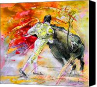 Torero Mixed Media Canvas Prints - Toroscape 49 Canvas Print by Miki De Goodaboom