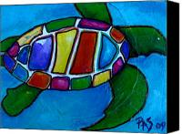Turtle Canvas Prints - Tortuga Canvas Print by Patti Schermerhorn