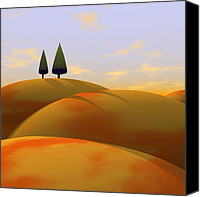 Orange Digital Art Canvas Prints - Toscana 1 Canvas Print by Cynthia Decker