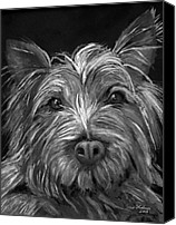 Dog Painting Canvas Prints - Tosha the Highland Terrier Canvas Print by Enzie Shahmiri