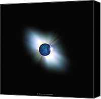 Solar Eclipse Canvas Prints - Total Solar Eclipse, Artwork Canvas Print by Detlev Van Ravenswaay