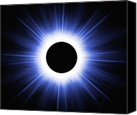 Solar Eclipse Canvas Prints - Total Solar Eclipse, Computer Artwork Canvas Print by Mehau Kulyk