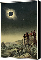 1842 Canvas Prints - Total Solar Eclipse Of 1842 Canvas Print by Detlev Van Ravenswaay