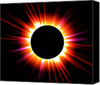 Chromosphere Canvas Prints - Total Solar Eclipse Canvas Print by Roger Harris