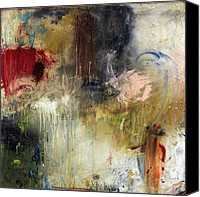 Red Mixed Media Canvas Prints - Tough Act To Follow Canvas Print by Michel  Keck