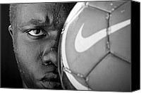 Football Canvas Prints - Tough Like a Nike Ball Canvas Print by Val Black Russian Tourchin