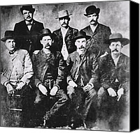 Cigars Canvas Prints - TOUGH MEN of the OLD WEST Canvas Print by Daniel Hagerman