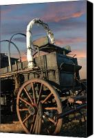 Chuck Wagon Canvas Prints - Tough Old Wagon Canvas Print by Robert Anschutz