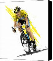 Sports Art Digital Art Canvas Prints - Tour de Lance Canvas Print by David E Wilkinson