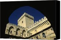 Worth Canvas Prints - Tour du Palais des Papes en Avignon. Canvas Print by Bernard Jaubert
