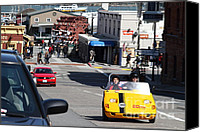 Hyde Street Pier Canvas Prints - Touring The Streets of San Francisco California In A Gocar . 7D14100 Canvas Print by Wingsdomain Art and Photography