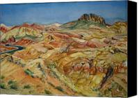 State Park Painting Canvas Prints - Touring Valley of Fire Canvas Print by Susan Owens