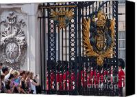 Photographs With Red. Canvas Prints - Tourists at Changing of the guards Canvas Print by Andrew  Michael