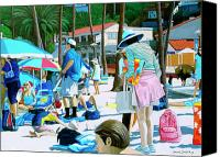 Tourists Painting Canvas Prints - Tourists Canvas Print by Snake Jagger