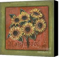 Blooms Painting Canvas Prints - Tournesol Canvas Print by Debbie DeWitt