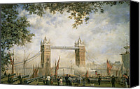 City Of Bridges Painting Canvas Prints - Tower Bridge - From the Tower of London Canvas Print by Richard Willis