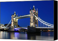 Co Canvas Prints - Tower Bridge at night Canvas Print by Jasna Buncic