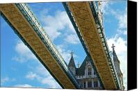 Bridge Crossing River Photo Canvas Prints - Tower Bridge Canvas Print by Christi Kraft