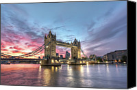 Waterfront Canvas Prints - Tower Bridge Canvas Print by Conor MacNeill