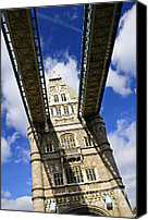 Walkway Canvas Prints - Tower bridge in London Canvas Print by Elena Elisseeva