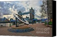 Dial Digital Art Canvas Prints - Tower Bridge London Canvas Print by Donald Davis