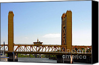 Bridge Crossing River Photo Canvas Prints - Tower Bridge Sacramento - A Golden State icon Canvas Print by Christine Till