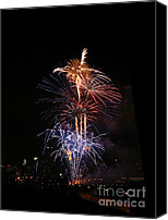 Fire Works Canvas Prints - Tower of Fire Power Canvas Print by Heidi Hermes