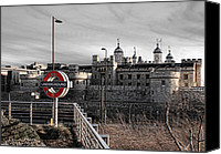 Subway Station Photo Canvas Prints - Tower of London with Tube sign Canvas Print by Jasna Buncic
