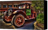 Old Trucks Canvas Prints - Towmater Canvas Print by Andrew Armstrong  -  Orange Room Images