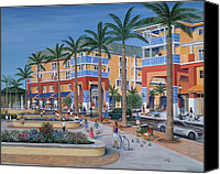 Balconies Canvas Prints - Town Center Abacoa Jupiter Canvas Print by Marilyn Dunlap
