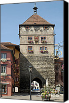 Watchtower Canvas Prints - Town gate Schwarzes Tor in Rottweil Germany Canvas Print by Matthias Hauser